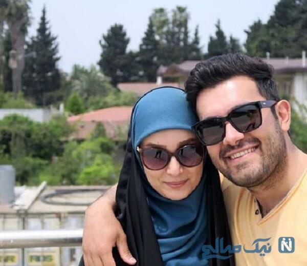 مژده خنجری مجری و همسرش