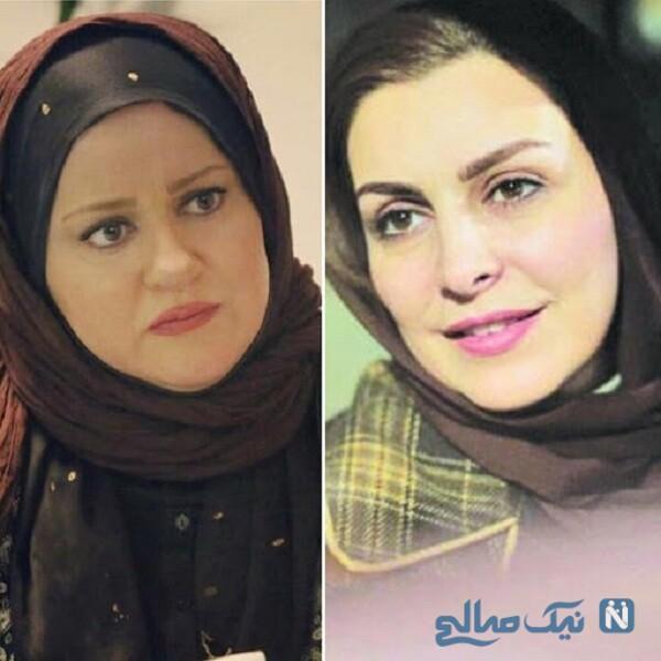 ماه چهره خلیلی و نعیمه نظام دوست بازیگر