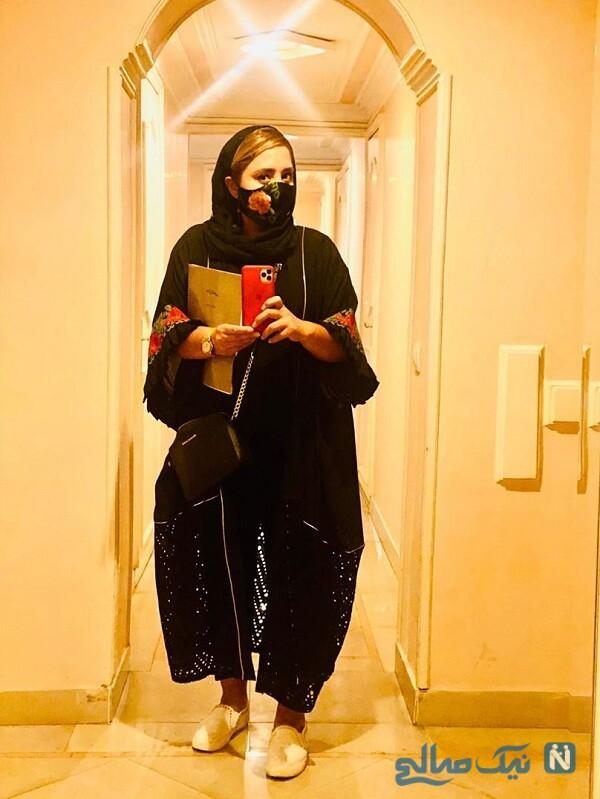 نرگس محمدی با ماسک