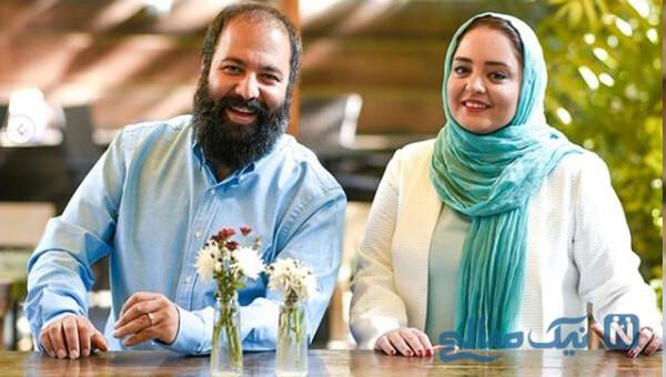 عکس جدید نرگس محمدی و همسرش