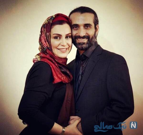 عکس ابراهیم اشرفی و همسرش