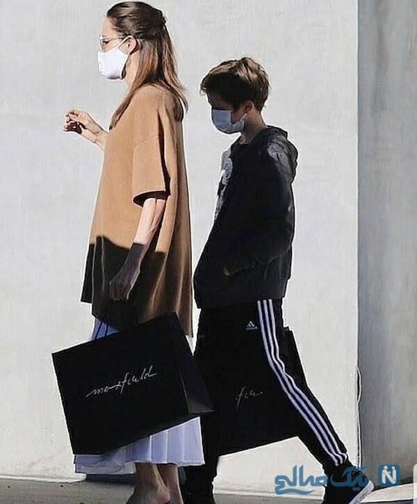 عکس آنجلینا جولی و فرزندش ناکس