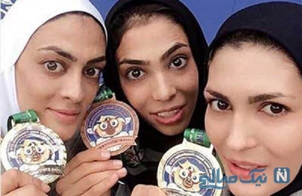 خواهران منصوریان همراه پدر و برادرشان پای دیگ نذری