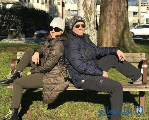 عکس مارال بنی آدم و همسرش علی سرابی