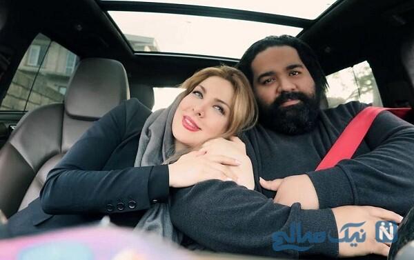 جدیدترین تصویر رضا صادقی و همسرش