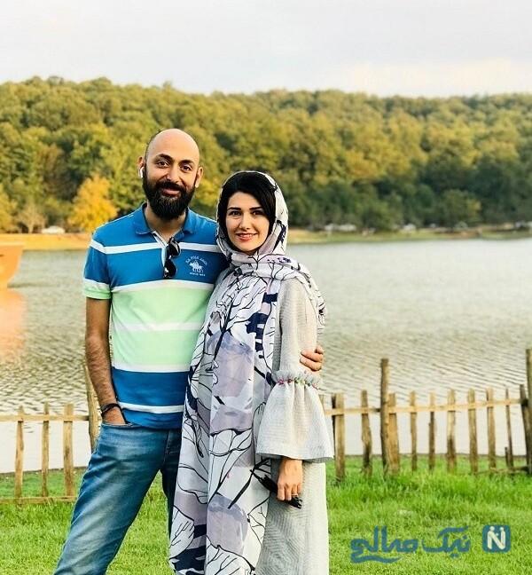 عکس نیلوفر استخری و همسرش