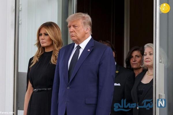 تصاویر ترامپ با خانواده در تشییع جنازه برادرش