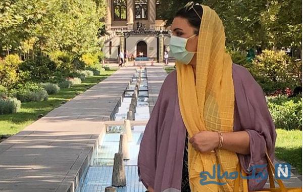 الهام پاوه نژاد با ماسک
