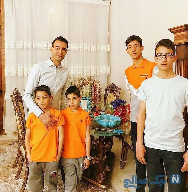 عکس جدید رضا عنایتی و پسران