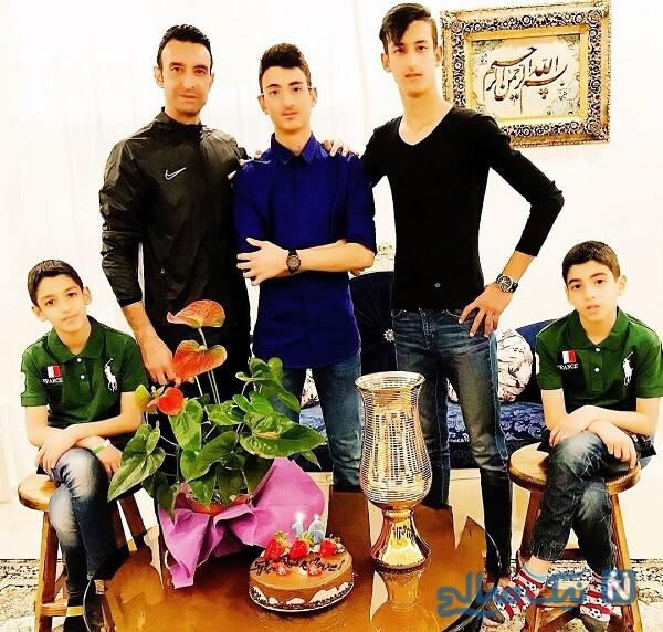 پسران رضا عنایتی در یک جشن تولد