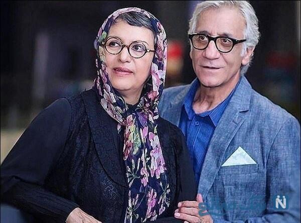 مسعود رایگان و همسرش