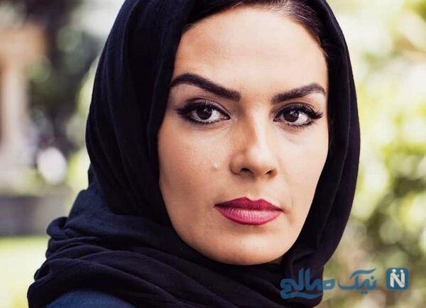 سارا خوئینی ها بازیگر سریال کلاه پهلوی با پسر و دخترش