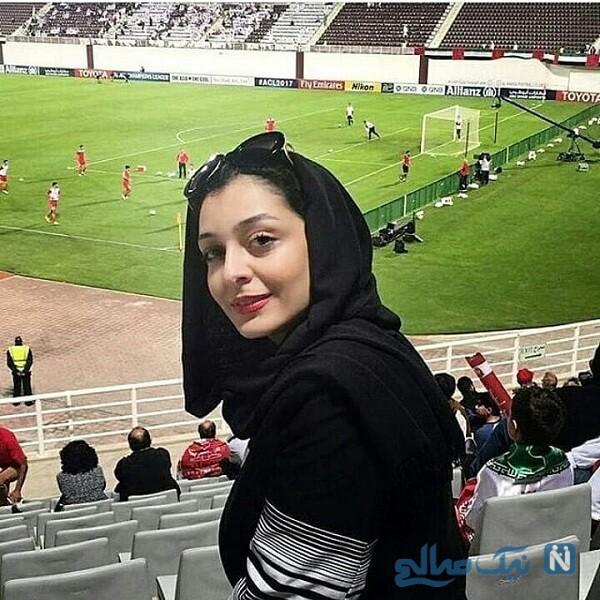 ساره بیات در استادیوم