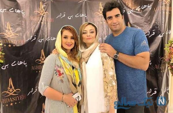 منشی صحنه سریال دل درکنار منوچهر هادی و همسرش