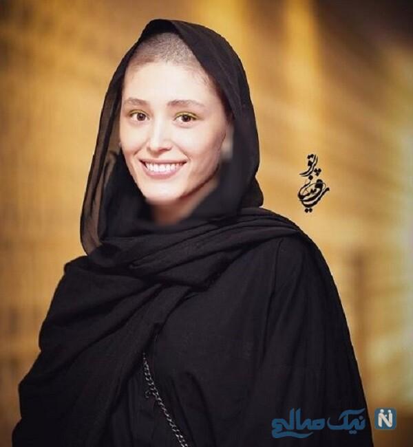 موهای تراشیده شده فرشته حسینی