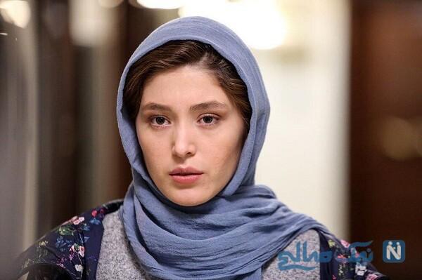 فرشته حسینی با موهای تراشیده در اکران مردمی فیلم یلدا