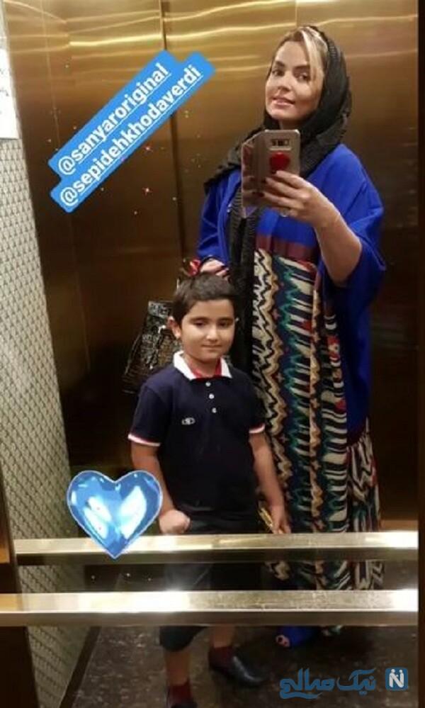 عکس جدید خانم بازیگر و پسرش