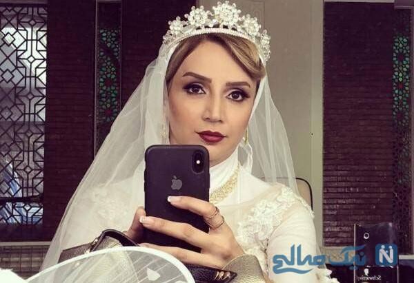 شبنم قلی خانی با لباس عروس در سریال ریکاوری