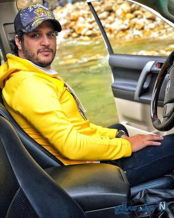 سیاوش خیرابی در خودرو لاکچری اش