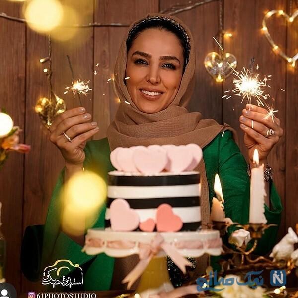 کیک تولد بازیگر زن