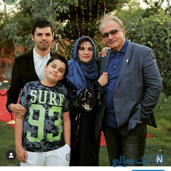 عکس خانوادگی علی معلم