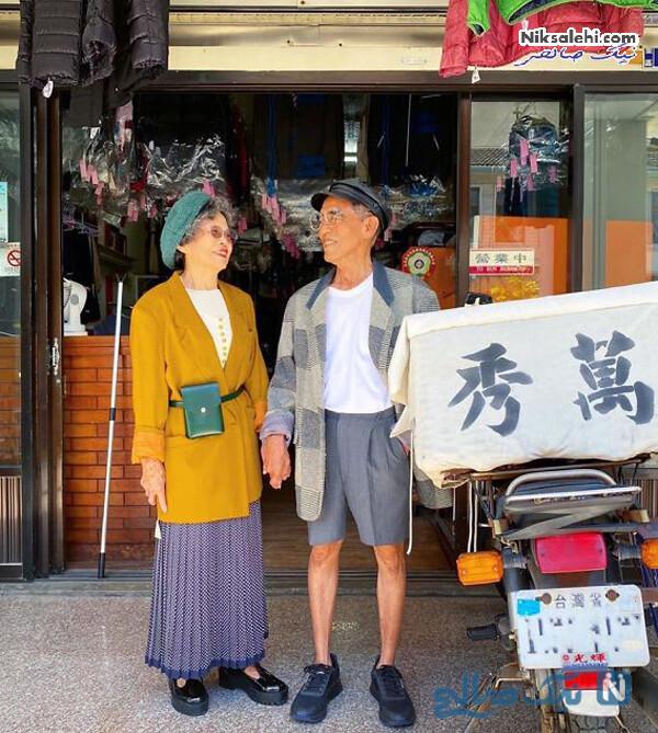 زوجی با لباس های خشکشویی