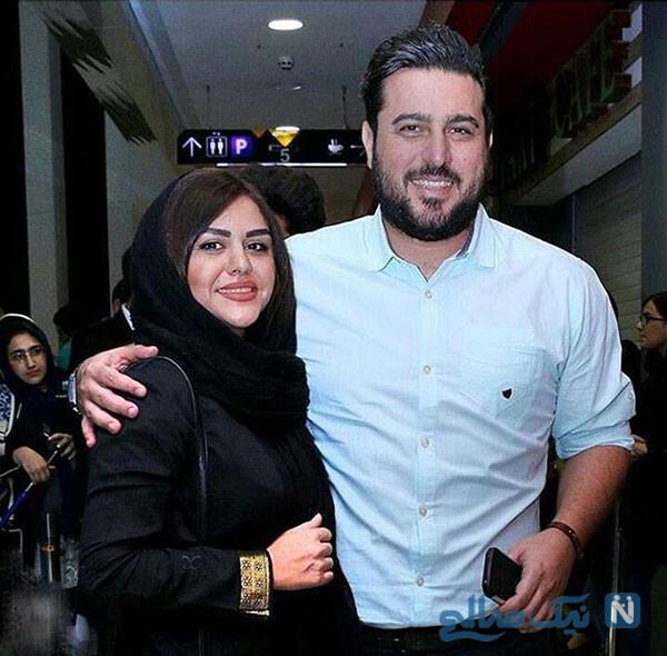 محسن کیایی و همسرش