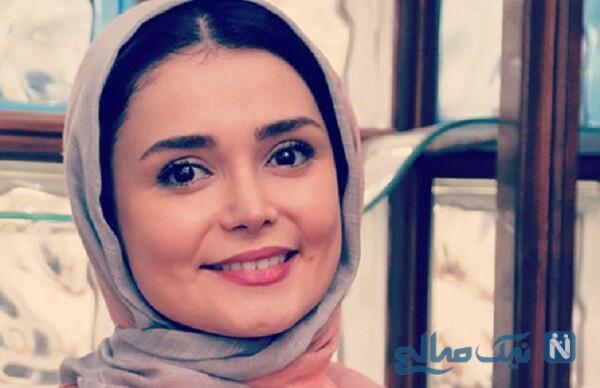 کیمیا گیلانی بازیگر و مجری تلویزیون با لباس عروس خاص