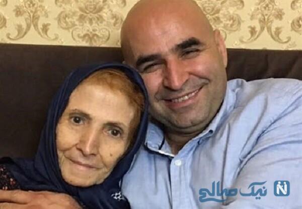 علی مشهدی و مادرش