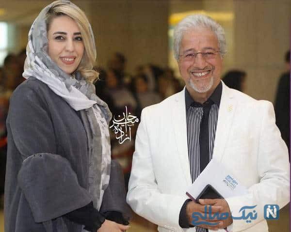 علیرضا خمسه بازیگر ایرانی و همسرش