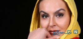 طبیعت گردی آزیتا ترکاشوند بازیگر هیولا با یک گاندو به دست