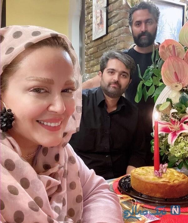 بهاره رهنما و همسرش در یک جشن تولد