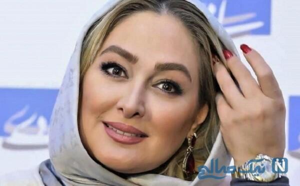 تولد علیرضا صادقی همسر الهام حمیدی و متن زیبای خانم بازیگر