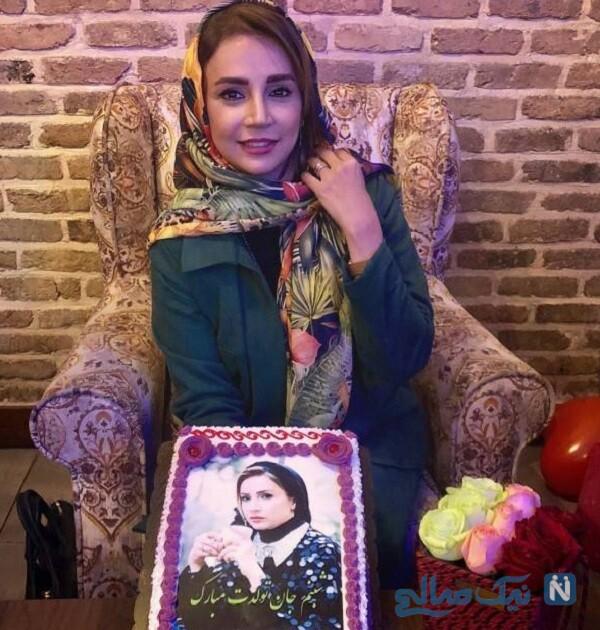 کیک تولد شبنم قلی خانی