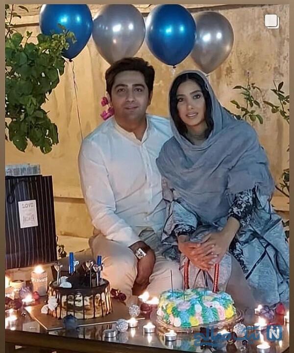 سارا نجفی و همسرش