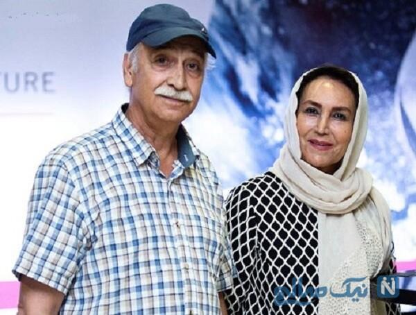 محمود پاک نیت و همسرش