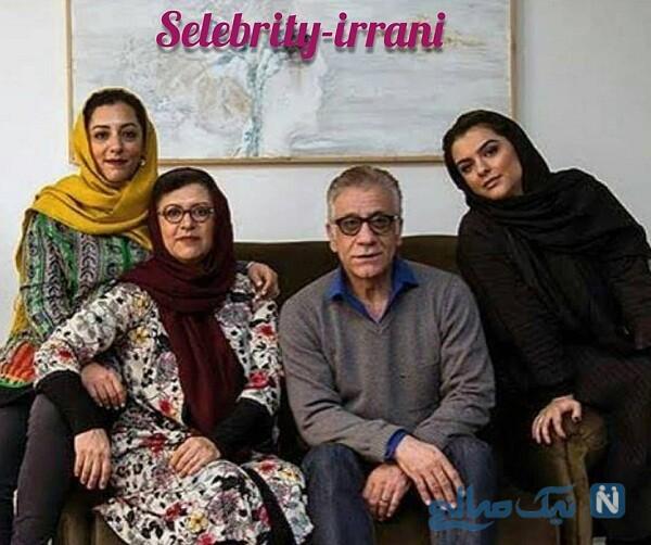 رویا تیموریان در کنار همسر و دخترانش