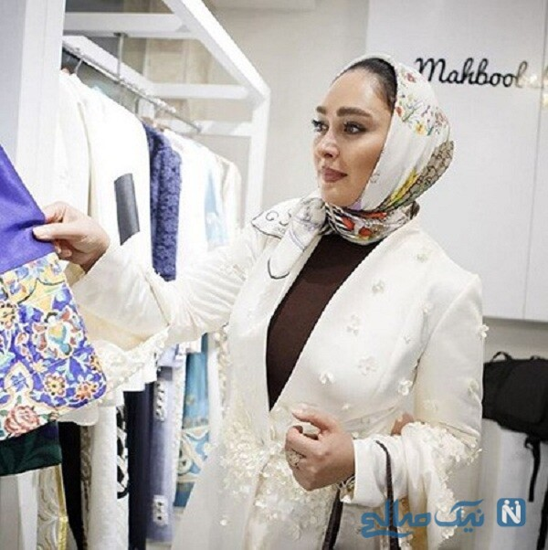 الهام حمیدی در مانتو فروشی بزرگ تهران