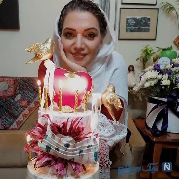 جشن تولد الهام پاوه نژاد با کیک خاص