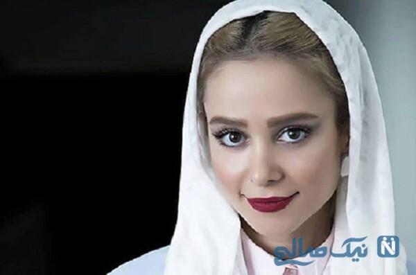 عکس سلفی جدید الناز حبیبی با گوشی لاکچری اش
