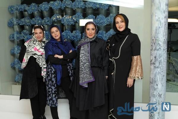 خانم های بازیگر و فریبا نادری در شام ایرانی