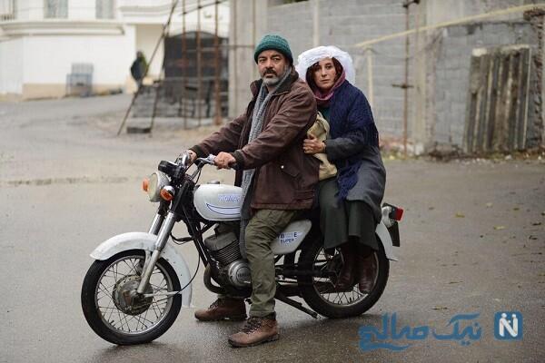 فاطمه معتمد آریا و سعید آقاخانی در فیلم بنفشه آفریقایی