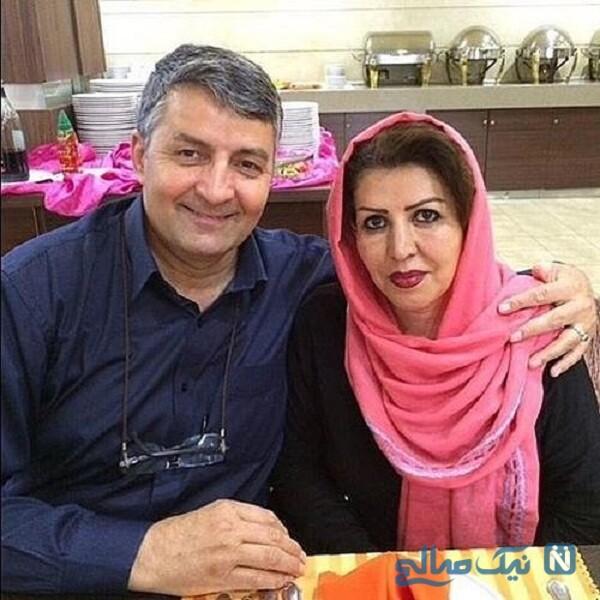 حمید ماهی صفت و همسرش