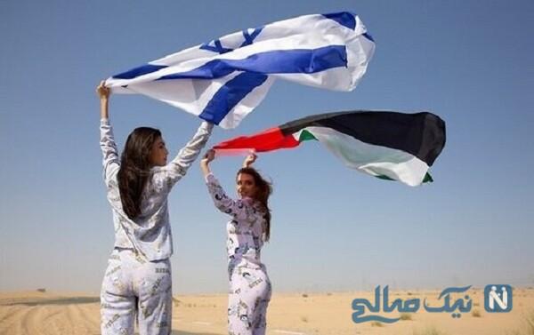 تبلیغ لباس توسط مای تاگر مدلینگ زن اسرائیلی در امارات