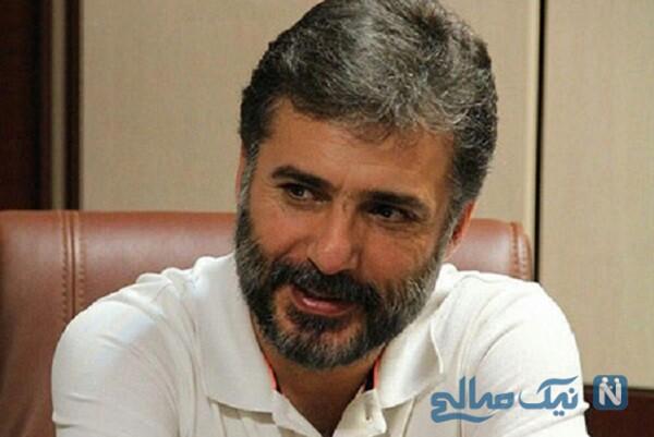 جواد هاشمی بازیگر معروف درکنار بادیگارد هایش