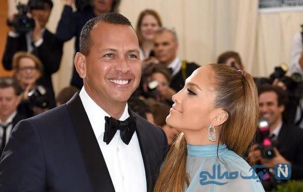 خواننده زن و نامزدش