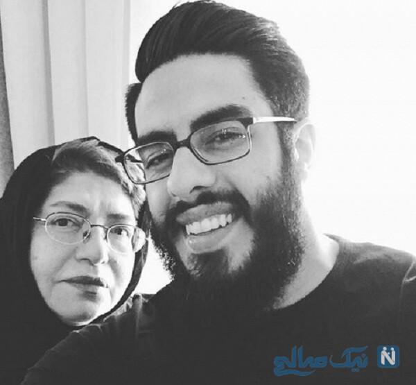 عکس جدید همسر و پسر خسرو شکیبایی