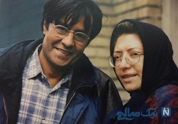 خسرو شکیبایی و همسرش