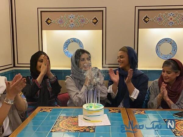 خانم های بازیگر در جشن تولد لیندا کیانی