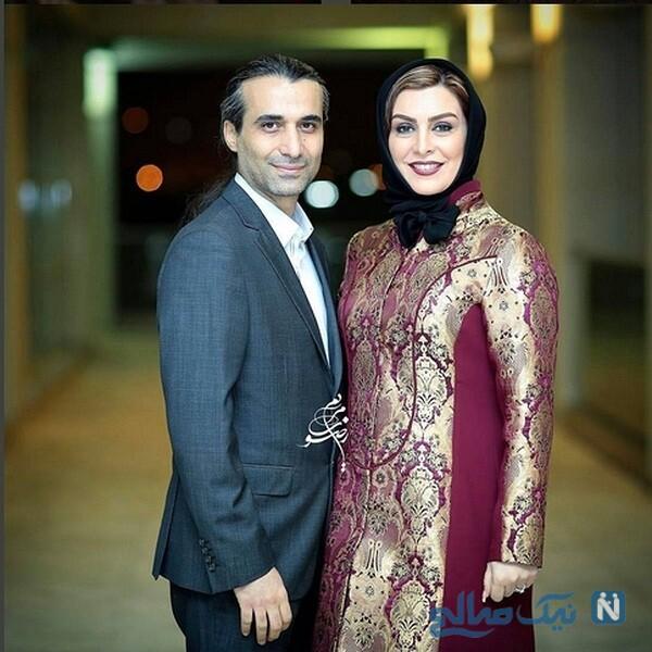 ماه چهره خلیلی و همسرش